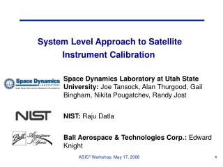 System Level Approach to Satellite Instrument Calibration