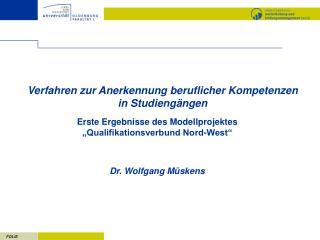 Verfahren zur Anerkennung beruflicher Kompetenzen  in Studieng ngen