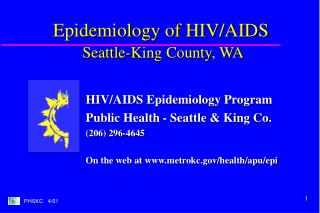 Epidemiology of HIV