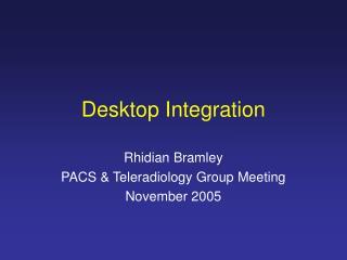 Desktop Integration