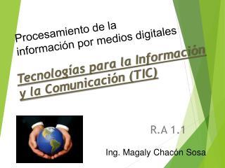 Tecnolog�as para la Informaci�n y la  Comunicaci�n (TIC)