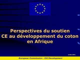 Perspectives du soutien CE au développement du coton en Afrique