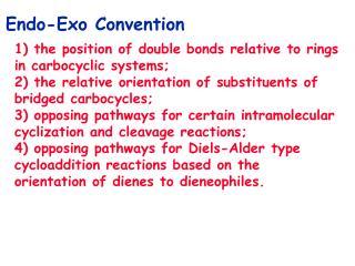 Endo-Exo Convention