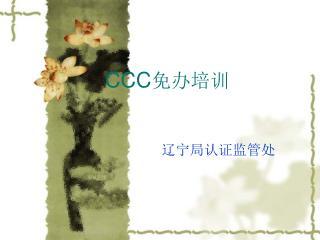 CCC 免办培训