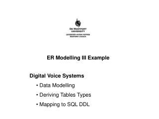 ER Modelling III Example