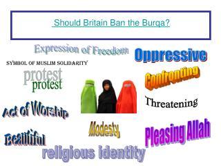 Should Britain  Ban the  Burqa ?