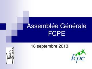 Assemblée Générale FCPE
