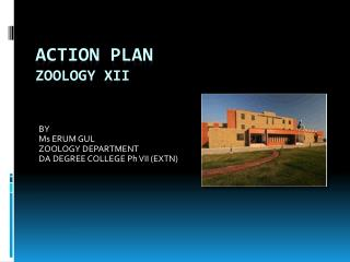 ACTION PLAN ZOOLOGY XII