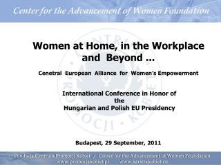 Women at Home, in the Workplace and  Beyond ...