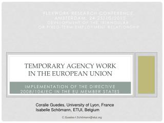 TEMPORARY AGENCY WORK  IN THE EUROPEAN UNION