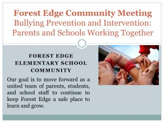 Forest Edge  elementary School COMMUNITY