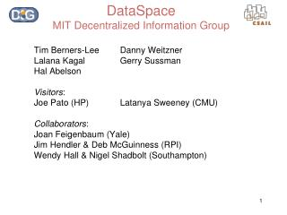 DataSpace MIT Decentralized Information Group