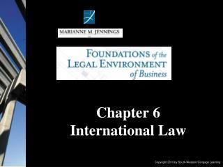 Chapter 6  International Law