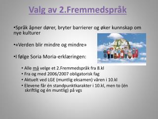 Valg av 2.Fremmedspråk