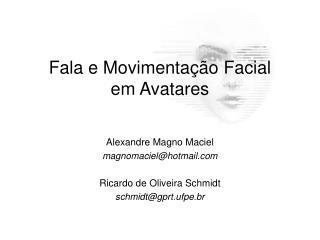 Fala e Movimentação Facial em Avatares