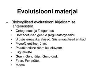 Evolutsiooni materjal