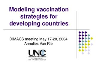 Modeling vaccination strategies for developing countries