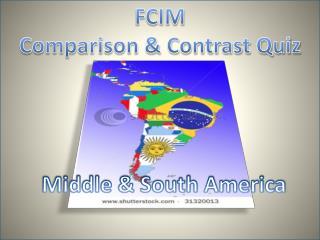 FCIM Comparison & Contrast Quiz