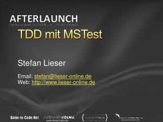 TDD mit MSTest