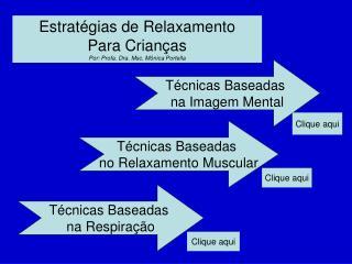 Estratégias de Relaxamento  Para Crianças Por: Profa. Dra. Msc. Mônica Portella