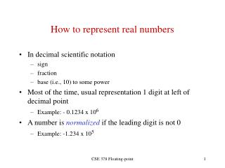 How to represent real numbers
