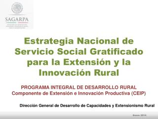 Estrategia Nacional de Servicio Social Gratificado para la Extensión y la Innovación Rural