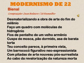 MODERNISMO DE 22