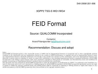 FEID Format
