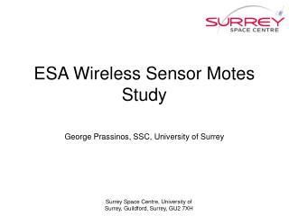 ESA Wireless Sensor Motes Study