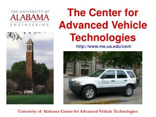 The Center for Advanced Vehicle Technologies
