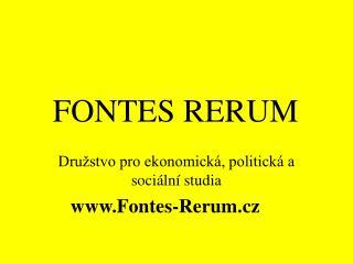 FONTES RERUM