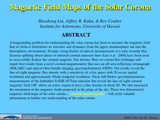 Magnetic Field Maps of the Solar Corona