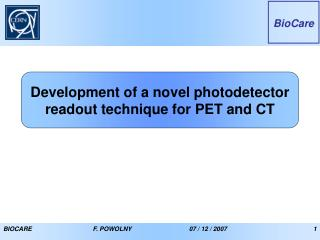 Development of a novel photodetector readout technique for PET and CT