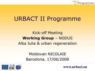 URBACT II Programme