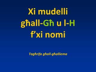 Xi mudelli  għ al l - G ħ u l- H f'xi nomi