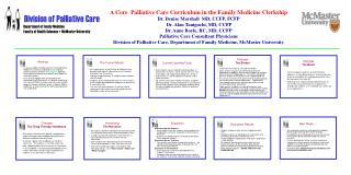 A Core  Palliative Care Curriculum in the Family Medicine Clerkship