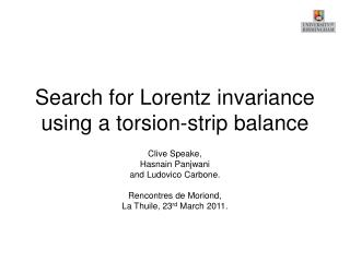 Search for Lorentz invariance using a torsion-strip balance