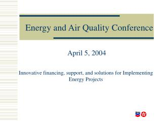 Energy and Air Quality Conference
