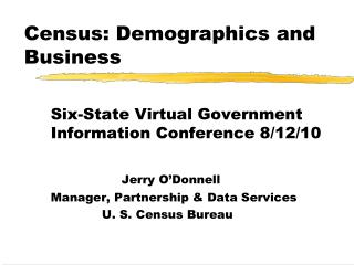Census: Demographics and Business