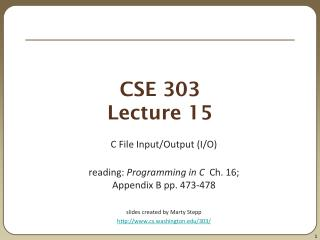 CSE 303 Lecture 15