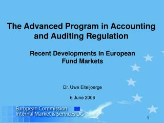The Advanced Program in Accounting and Auditing Regulation