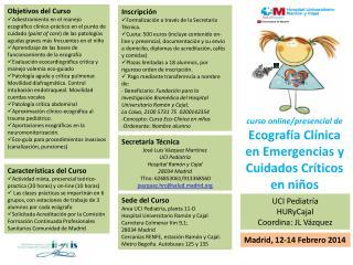curso online/presencial de Ecograf�a Cl�nica en Emergencias y Cuidados Cr�ticos en ni�os
