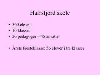 Hafrsfjord skole