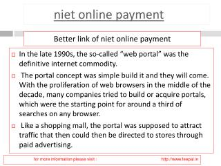 Useful information about niet online payment