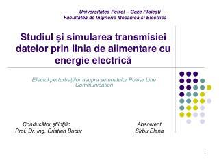 Studiul și simularea transmisiei datelor prin linia de alimentare cu energie electrică