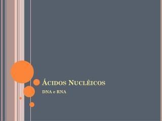 Ácidos  Nuclêicos
