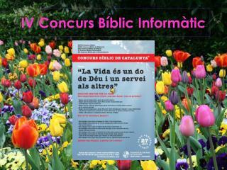 IV Concurs Bíblic Informàtic