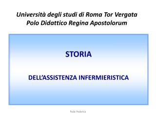 Università degli studi di Roma Tor Vergata Polo Didattico Regina Apostolorum