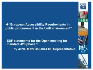 """European Accessibility Requirements in public procurement in the built environment"""