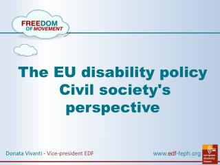The EU disability policy Civil society's perspective